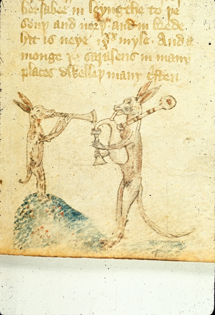 Hares from BL Royal 17 C XXXVIII, f. 28