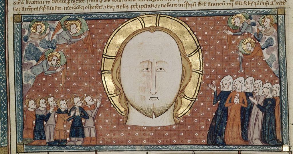 Head of Christ from BL Royal 6 E VI, f. 16v