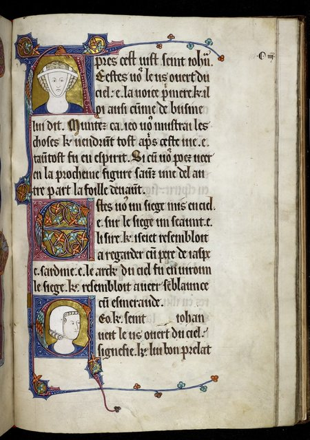 Heads of a man and a woman from BL Royal 15 D II, f. 118