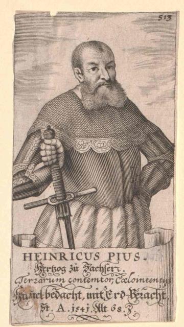 Heinrich V. der Fromme, Herzog von Sachsen
