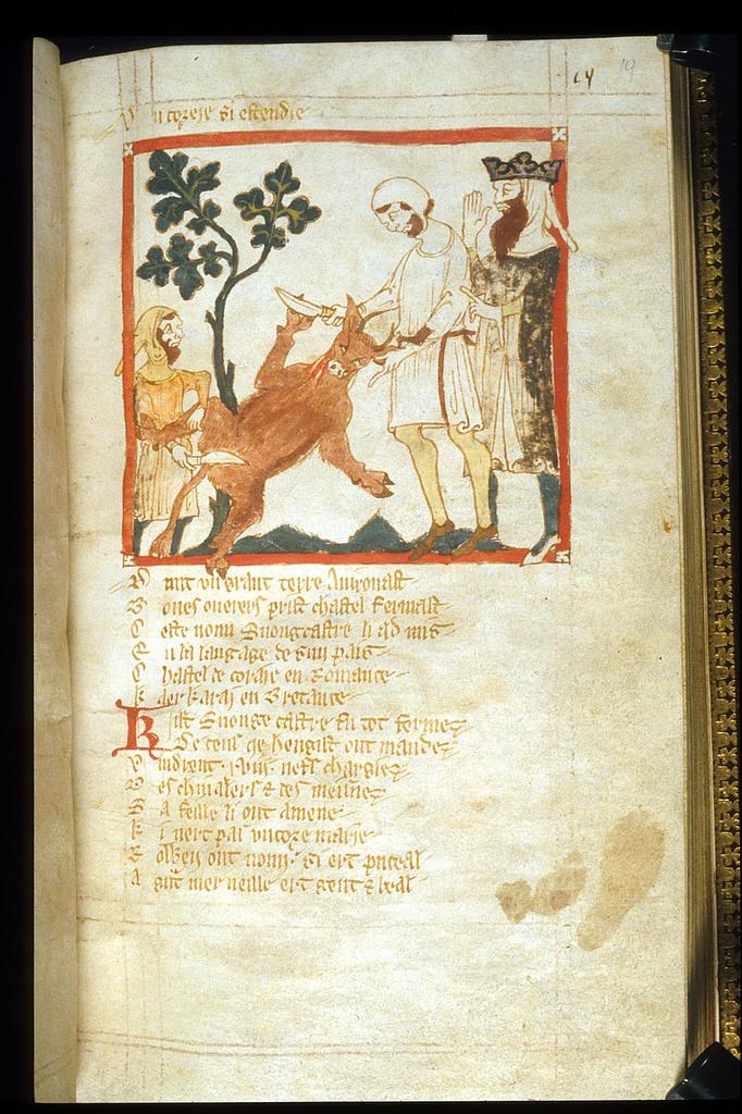Hengist from BL Eg 3028, f. 19
