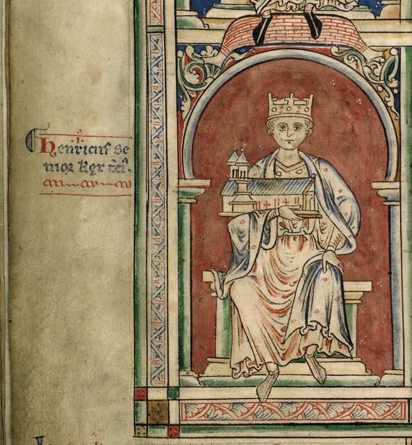 Henry I from BL Royal 14 C VII, f. 8v