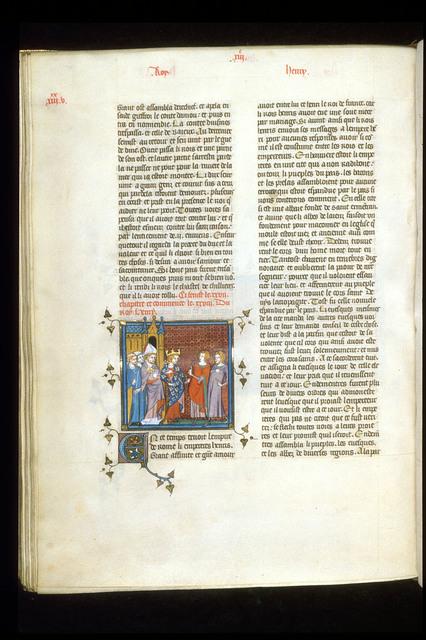 Henry I from BL Royal 16 G VI, f. 267v