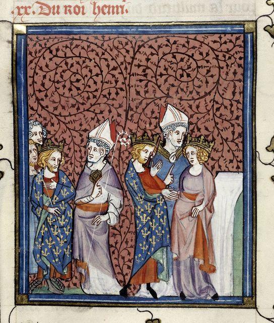 Henry I from BL Royal 16 G VI, f. 269v