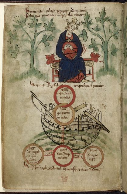 Henry I from BL Royal 20 A II, f. 6v