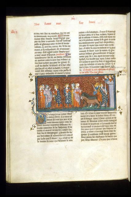 Henry I of France from BL Royal 16 G VI, f. 263v