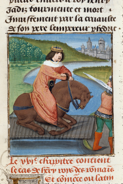 Henry, king of the Romans from BL Royal 14 E V, f. 484
