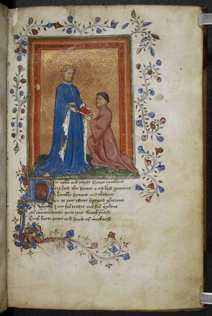 Henry V from BL Arundel 38, f. 37