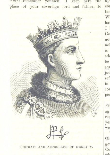 """Henry V from """"The National and Domestic History of England ... With numerous steel plates, coloured pictures, etc"""""""