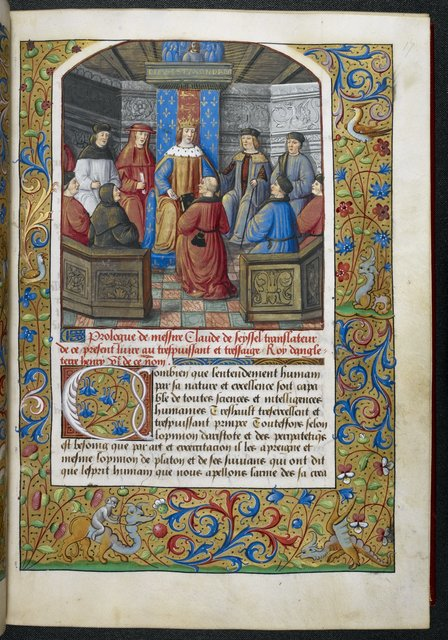 Henry VII receiving the book from BL Royal 19 C VI, f. 17