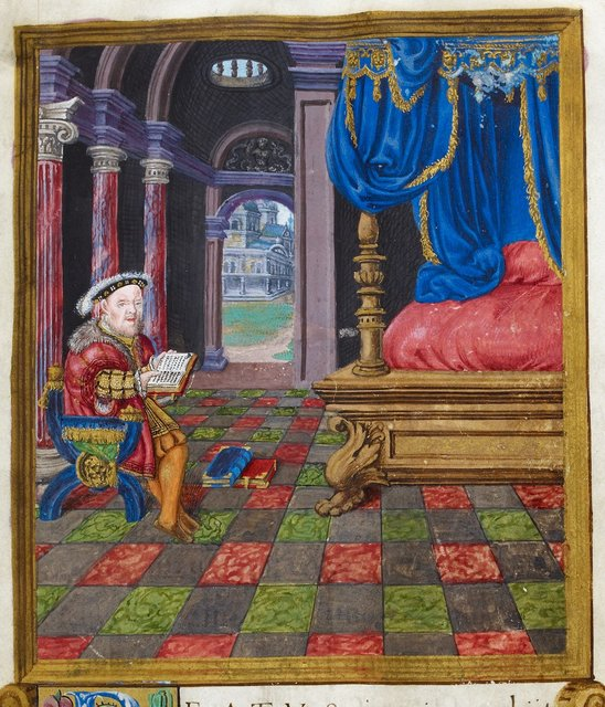 Henry VIII from BL Royal 2 A XVI, f. 3