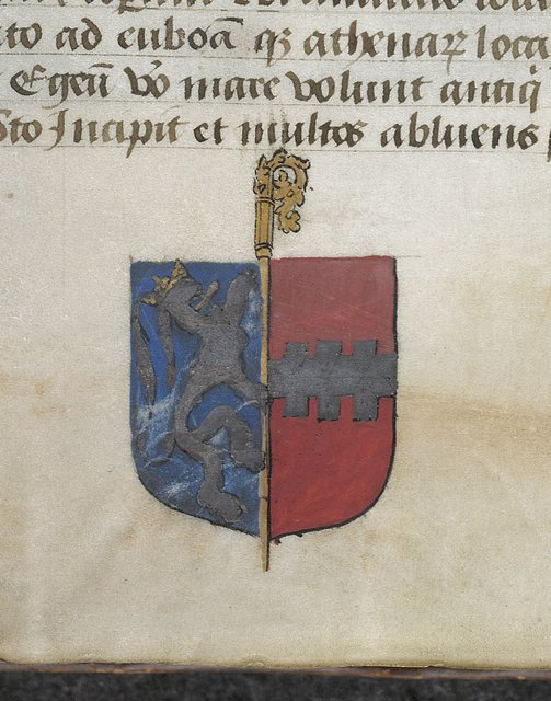 Heraldry from BL Arundel 93, f. 129