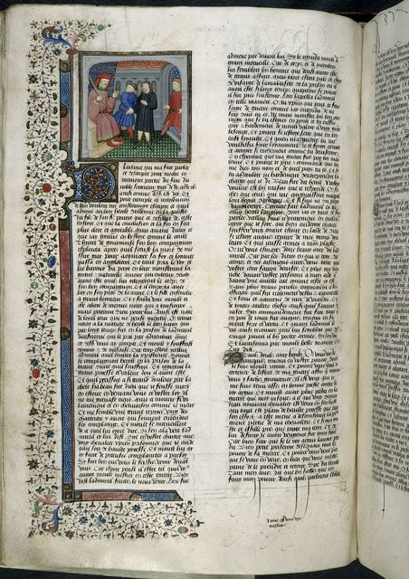 Herolt before the Admiral of Africa from BL Royal 15 E VI, f. 266v