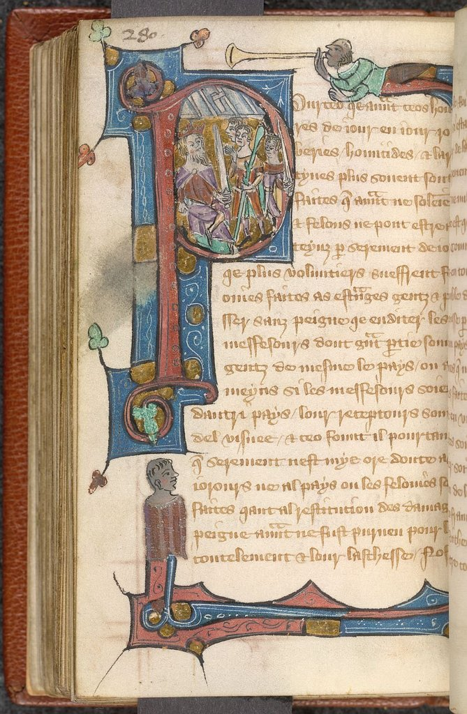 Historiated initial from BL Lansdowne 1174, f. 142v