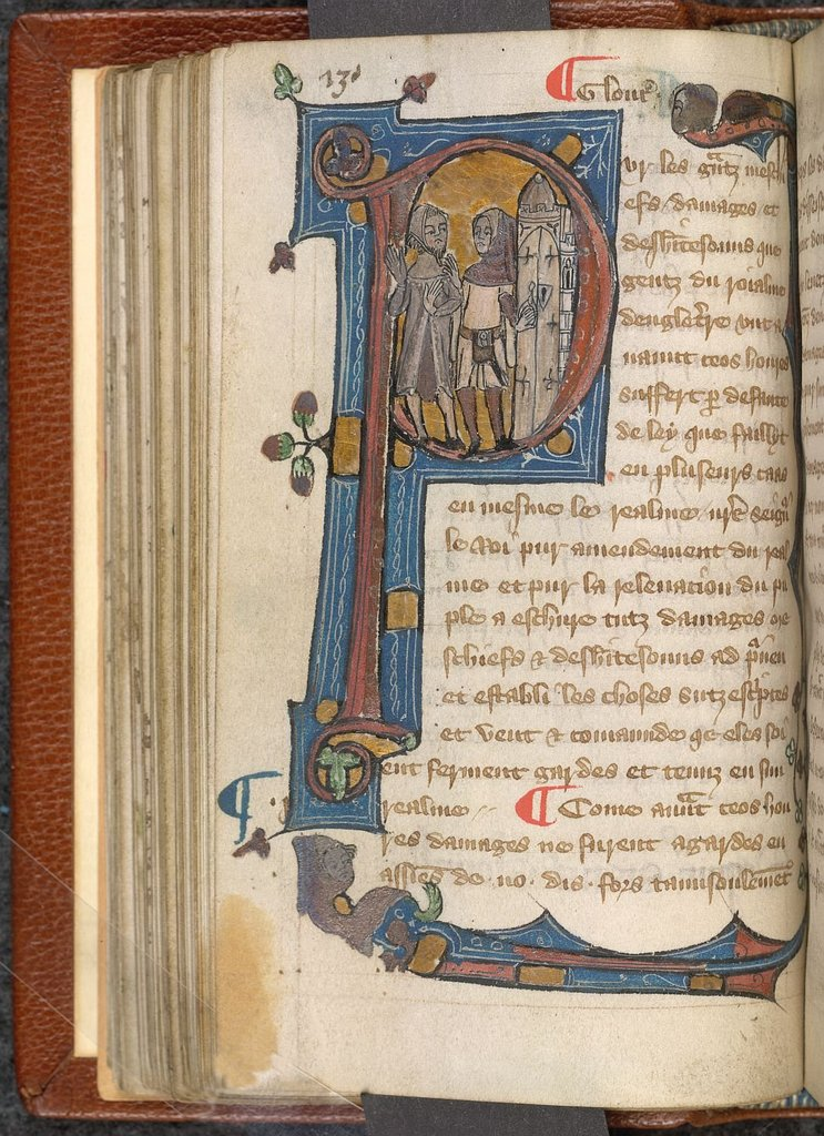 Historiated initial from BL Lansdowne 1174, f. 67v
