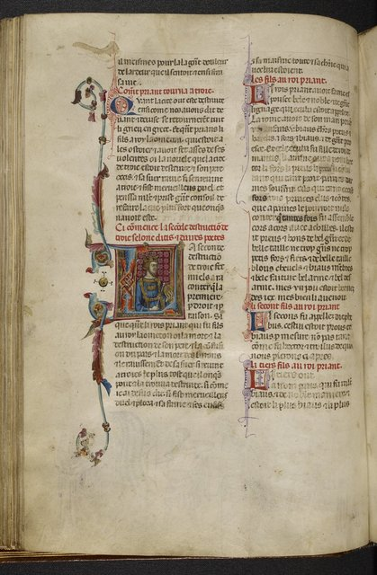 Historiated initial from BL Royal 20 D I, f. 38v