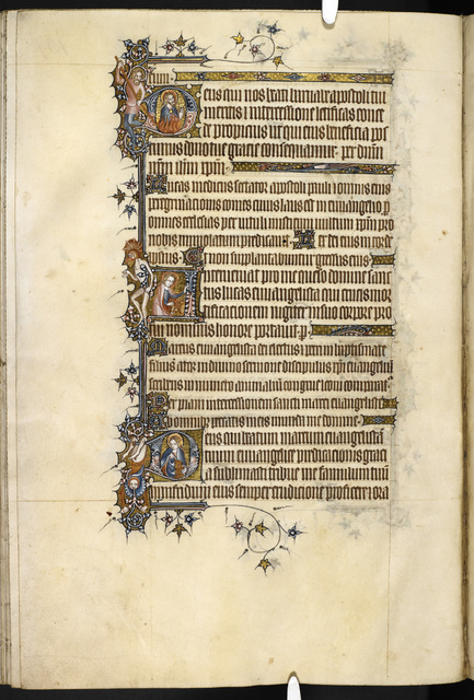 Historiated initials from BL Eg 3277, f. 163v