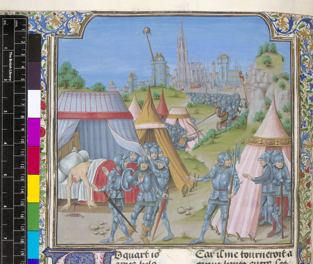 Holofernes from BL Royal 15 D I, f. 76v