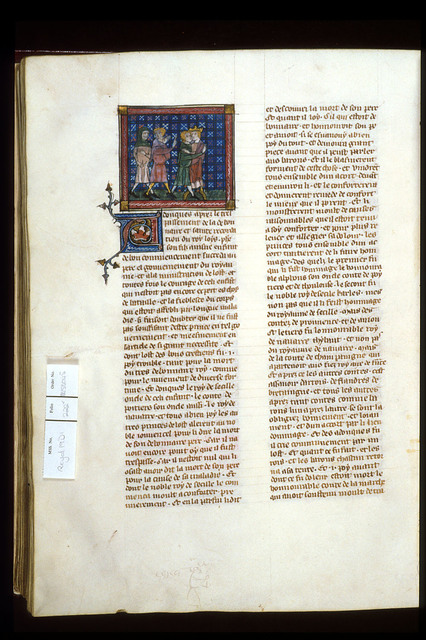 Homage to Philip III from BL Royal 19 D I, f. 222v