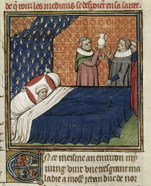 Illness of the Duke of Normandy from BL Royal 20 C VII, f. 78v