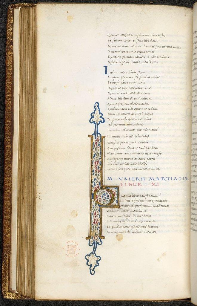 Illuminataed initial from BL Lansdowne 837, f. 110v