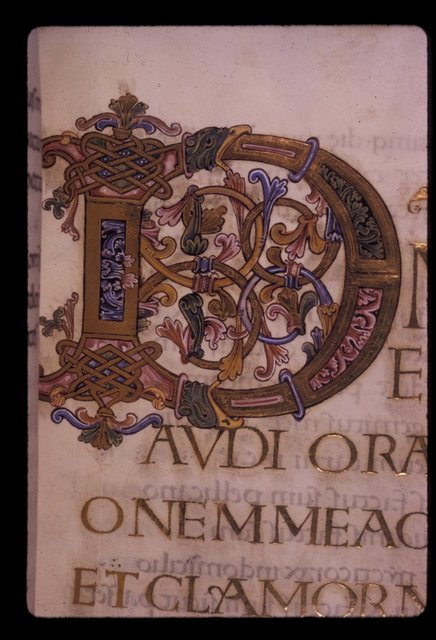 Illuminated initial from BL Harley 2904, f. 125