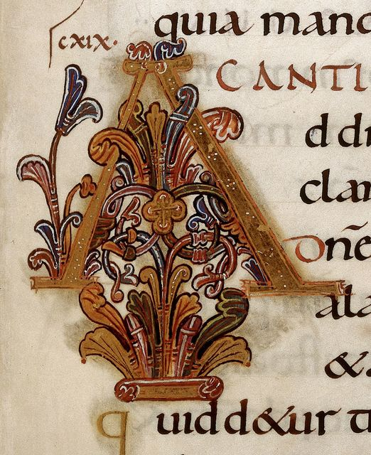 Illuminated initial from BL Harley 2904, f. 164