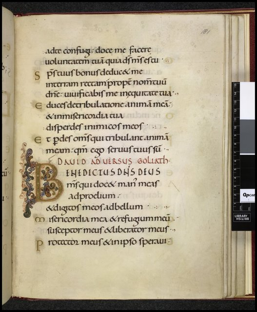 Illuminated initial from BL Harley 2904, f. 181