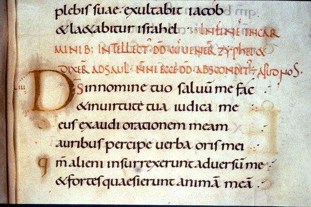 Illuminated initial from BL Harley 2904, f. 64v