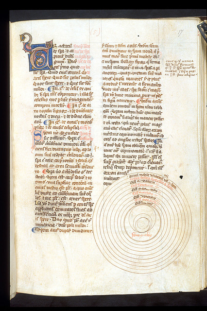 Illuminated initial from BL Harley 3735, f. 17