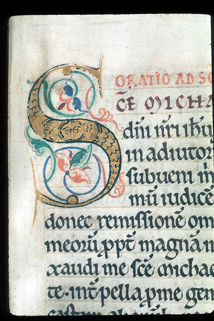 Illuminated initial from BL Lansdowne 383, f. 169