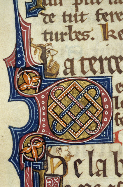 Illuminated initial from BL Royal 15 D II, f. 11v