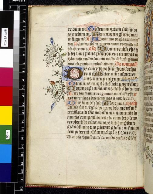 Illuminated initial from BL Royal 2 A XVIII, f. 60v