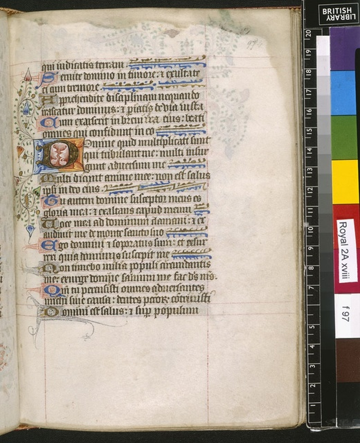 Illuminated initial from BL Royal 2 A XVIII, f. 97