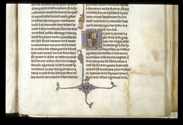 Illuminated initial from BL Royal 20 D IV, f. 301