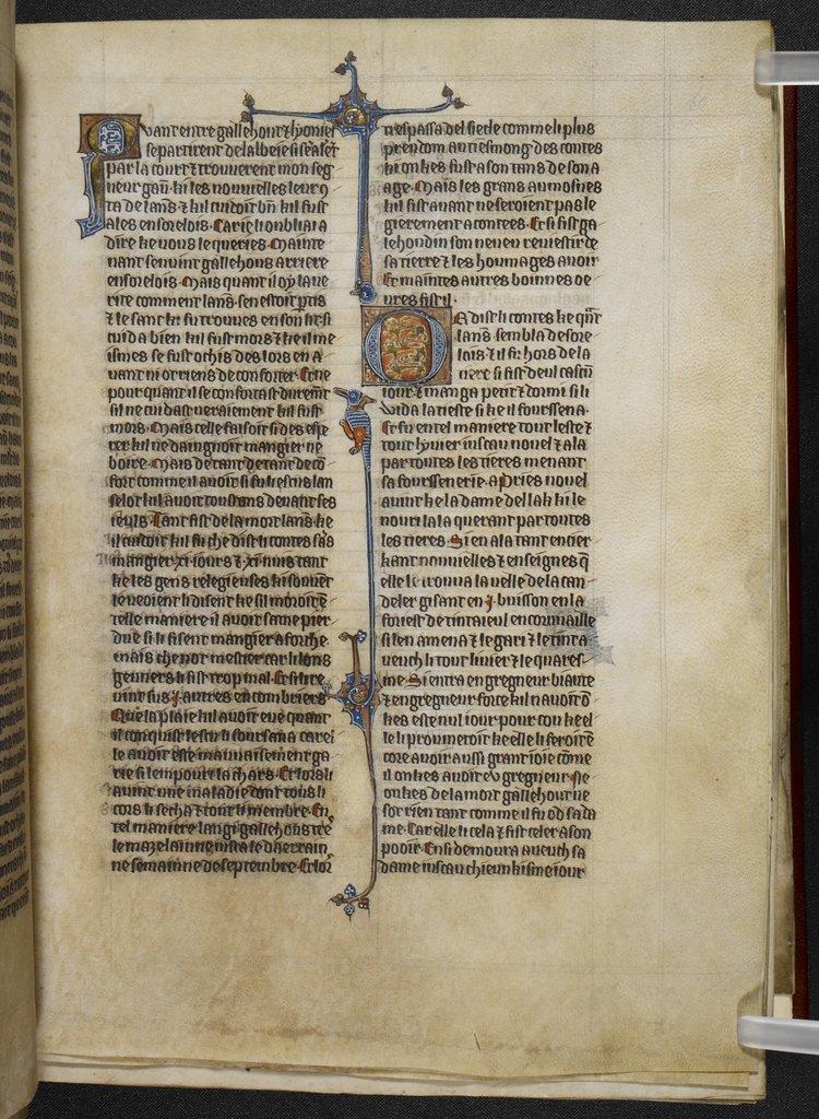 Illuminated initials from BL Royal 20 D IV, f. 60