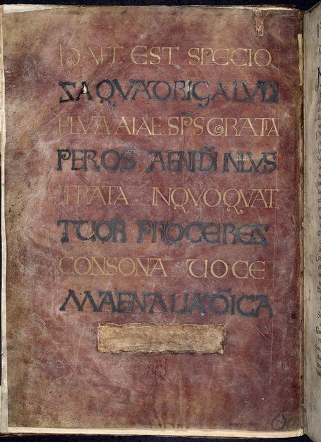 Incipit page from BL Royal 1 E VI, f. 1v