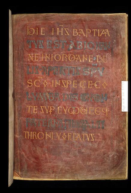Incipit page from BL Royal 1 E VI, f. 30