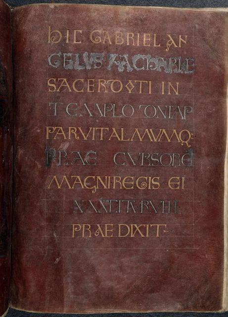 Incipit page from BL Royal 1 E VI, f. 44