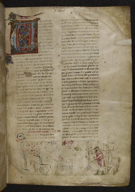 Infant Oedipus from BL Royal 20 D I, f. 1