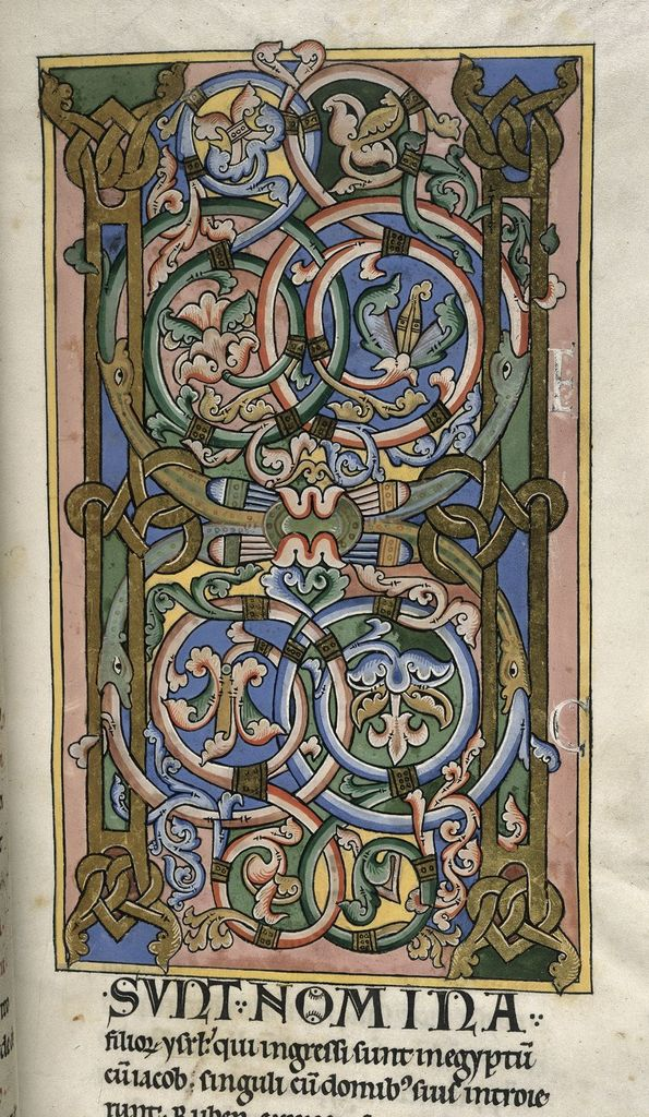 Inhabited initial from BL Harley 2803, f. 28