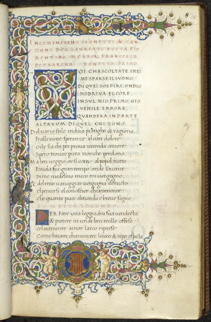 Initial and border from BL Lansdowne 787, f. 10