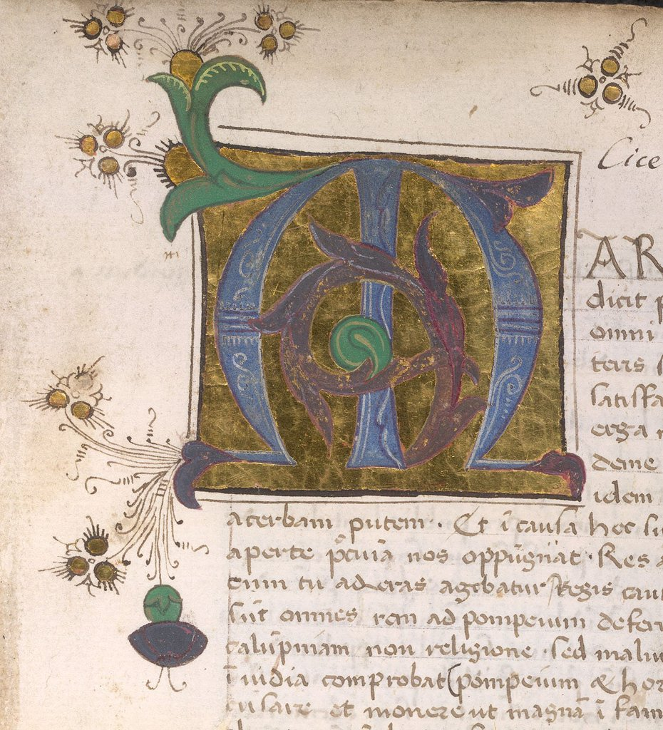 Initial from BL Arundel 138, f. 18