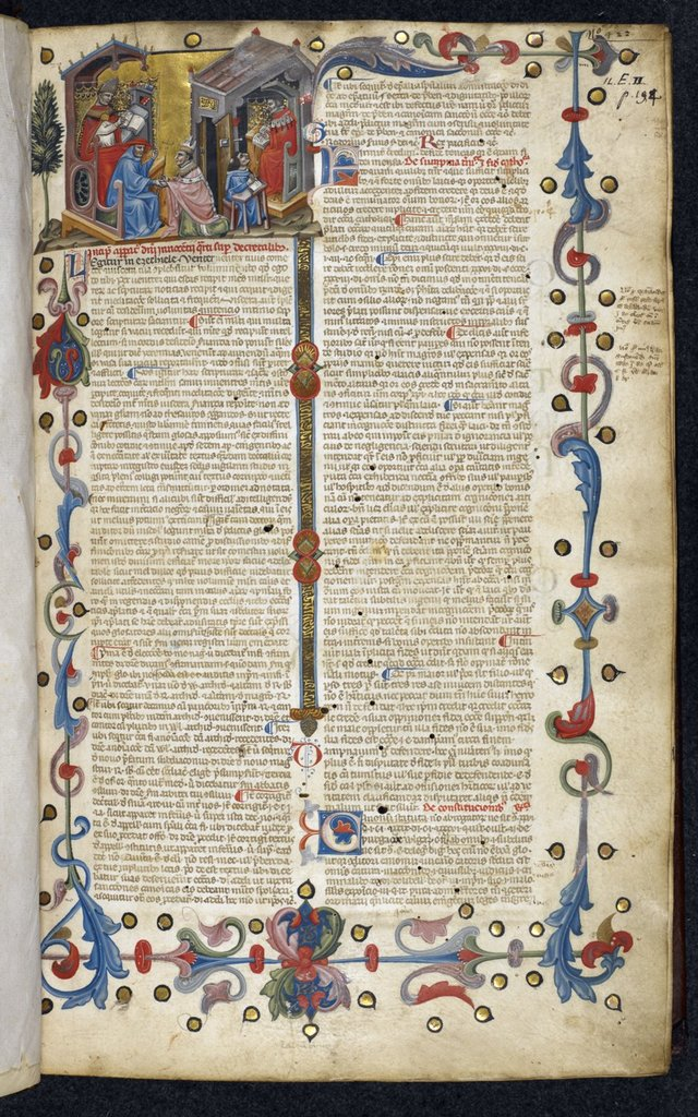 Innocent IV from BL Royal 11 E II, f. 1