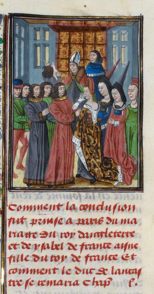 Isabella and Richard II from BL Royal 18 E II, f. 270v