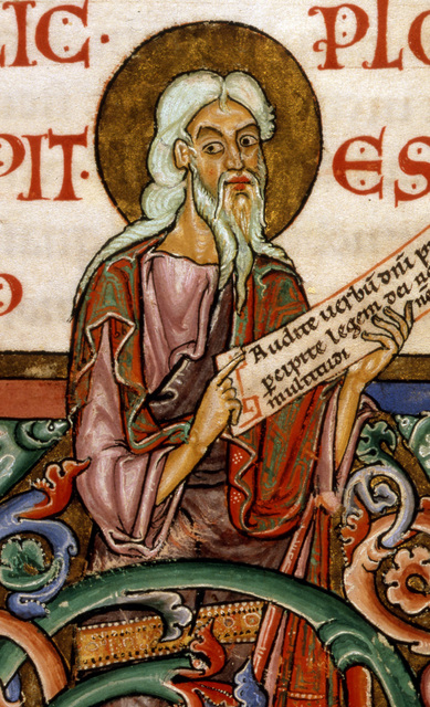 Isaiah from BL Harley 2803, f. 176