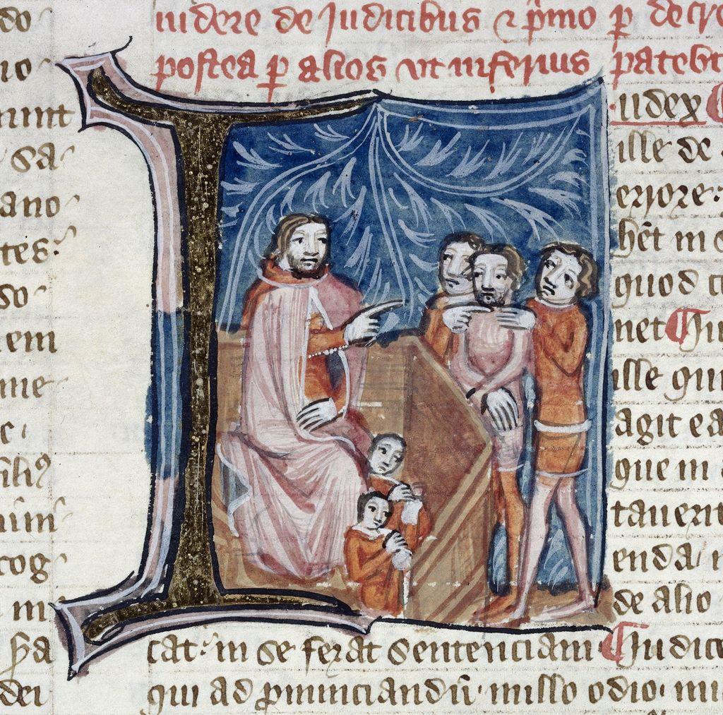Iudex (judge) from BL Royal 6 E VII, f. 345