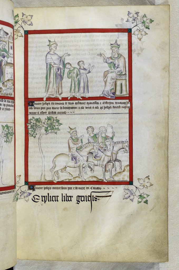 Jacob and Joseph from BL Royal 2 B VII, f. 20