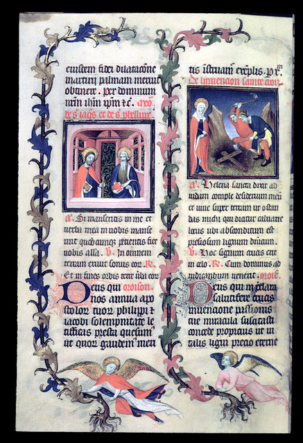 James and Phillip and Helena from BL Eg 1070, f. 91v