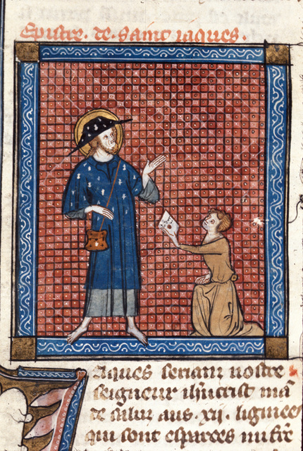 James sending a letter from BL Royal 18 D VIII, f. 155
